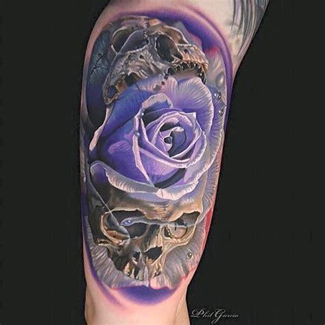 violet rose skulls tattoo by phil garcia best tattoo