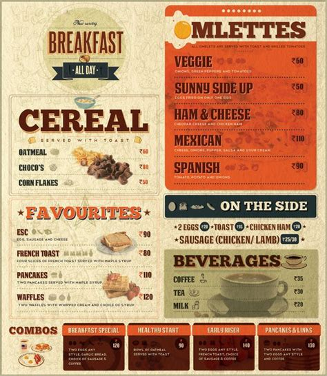 cover layout of american breakfast square ruth american diner by anup k r via behance