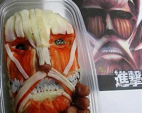 attack on titan japanese attack on titan may be japan s most horrifying bento
