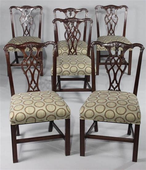 Henkel Harris Dining Room Furniture Henkel Harris Set Of Six Chippendale Style Mahogany Dining C