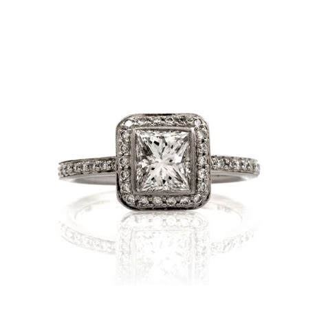 ritani certified princess cut platinum
