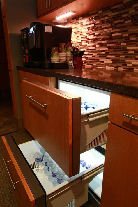Pull Out Refrigerator Drawers by Rift Sawn White Oak Schmidt Custom Cabinetry