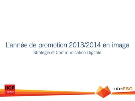 Mba Promo Code 2014 by Formation Mba Esg Iicp Strat 233 Gie Et Communication