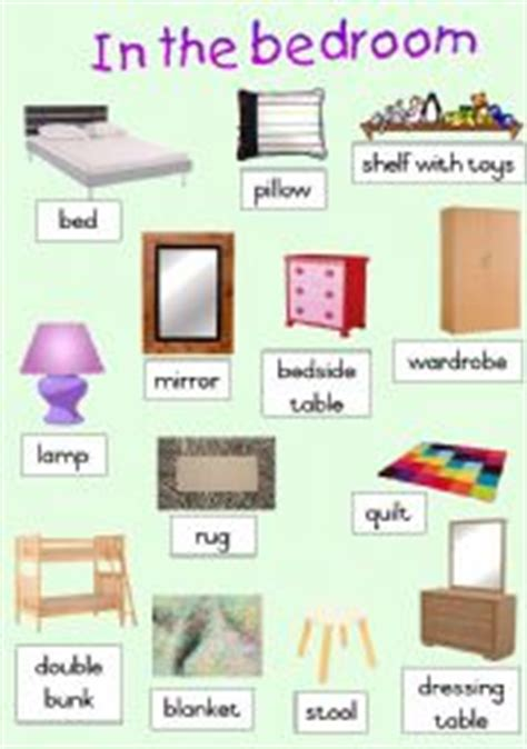 Things To Do In The Bedroom by Teaching Worksheets The Bedroom