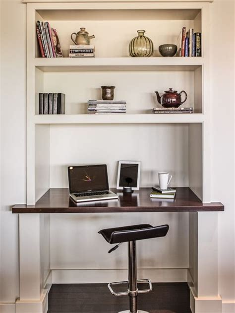 Desk With Computer Built In Built In Computer Desk And Shelves Houzz