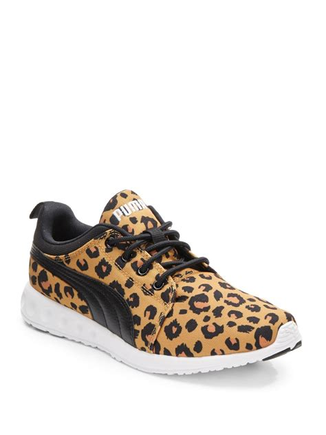 leopard sneakers lyst carson runner leopard print canvas sneakers