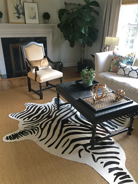 zebra rug on the cheap my hunt for a zebra rug lorri dyner design