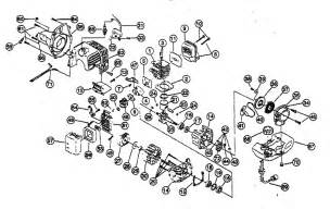 engine assy diagram parts list for model 2079r ryobi parts grass line trimmer parts