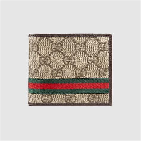 H Mes Wallet gg supreme web bi fold wallet gucci s bi fold
