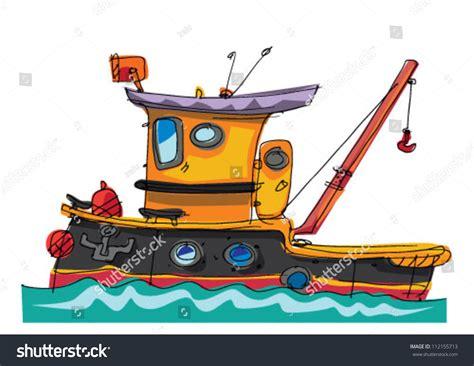 cartoon tug boat tugboat cartoon stock vector 112155713 shutterstock
