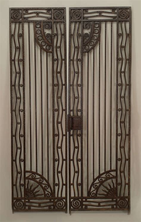 Modern Gate Design For House by Pair Of French Art Deco Wrought Iron Gates At 1stdibs