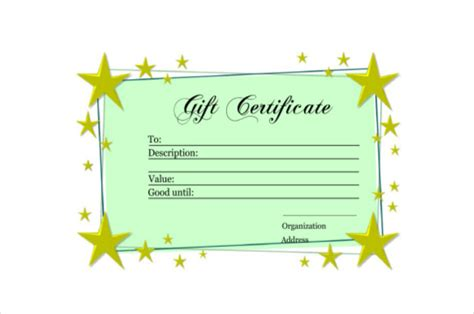 9 Homemade Gift Certificate Templates Free Sle Exle Format Download Free Premium Diy Gift Certificate Template