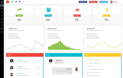 30 Bootstrap Admin Dashboard Templates Free Download Premium Templateflip Admin Panel Template Free
