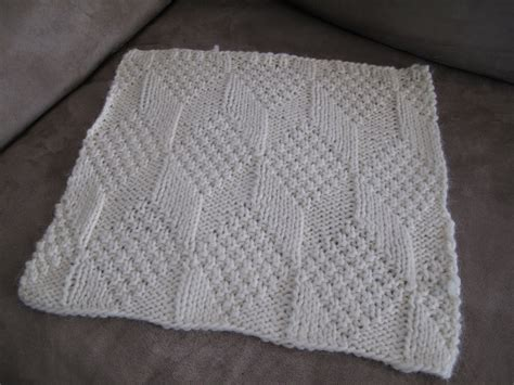 diamond pattern in knitting libby grant knits blanket square 4 moss diamond and
