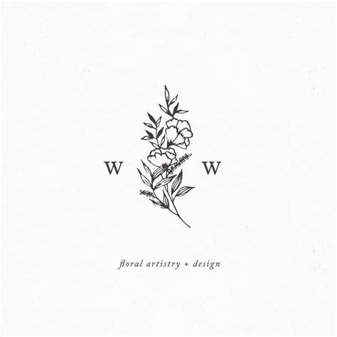 tattoo flower logo morgan parsons design logo pinterest logos