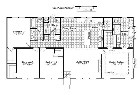 urban floor plans the urban homestead ft32563c manufactured home floor plan