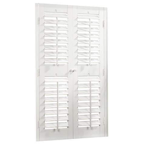 interior window shutters lowes lowes interior plantation shutters by allen roth shutters