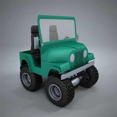 jeep caricature jeep car 3d model