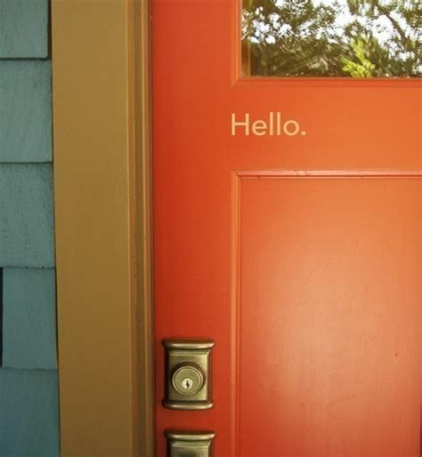 accent door colors shut the front door thinking about color