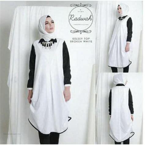 Hv Baju Putih Didita Pakaian Atasan Wanita grosir pakaian wanita kesley tunik putih grosir baju