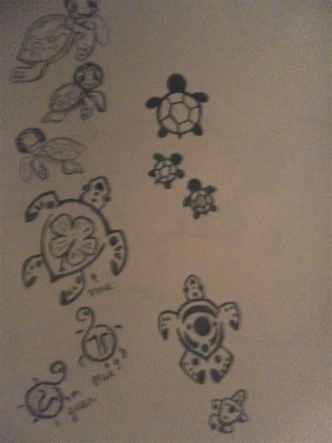 turtle tattoos by kandeeland123 on deviantart