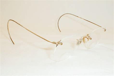 antique gold silver spectacles 12k shuron rimless iv