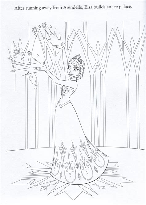 frozen coloring pages elsa castle official frozen illustrations coloring pages frozen