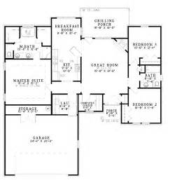 cool split bedroom floor plans on home plans more