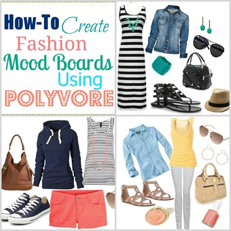 how to create a fashion mood board using polyvore