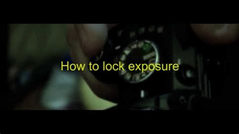 youtube tutorial nikon d3100 nikon d3100 exposure lock tutorial youtube