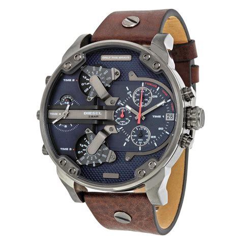 Diesel Time Brown diesel mr dual time chronograph navy blue leather s dz7314 diesel