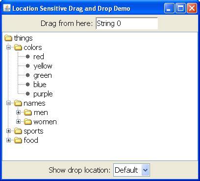 oracle swing tutorial demo locationsensitivedemo the java tutorials