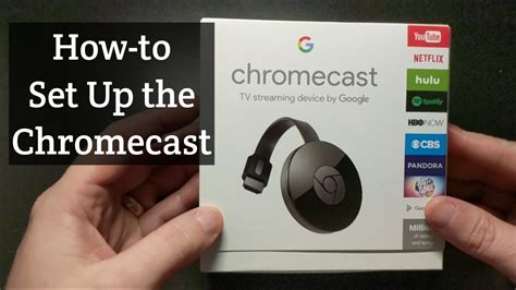 how to setup the google chromecast youtube