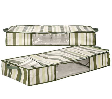 under bed tote packmate set of 2 under the bed stackable storage totes page 1 qvc com