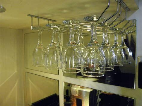 Gelas Set 2 two row glass rail gantungan gelas minibar modern kitchen other by veainterior