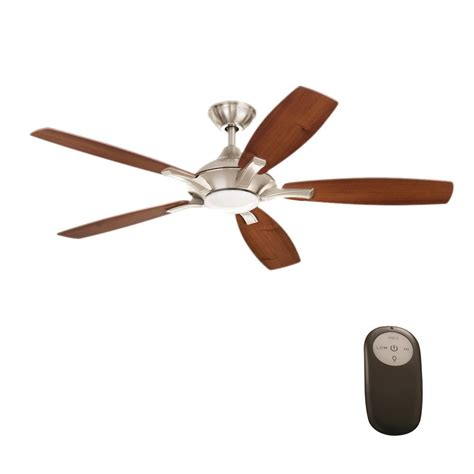 petersford 52 in led brushed nickel ceiling fan home decorators collection petersford 52 in integrated