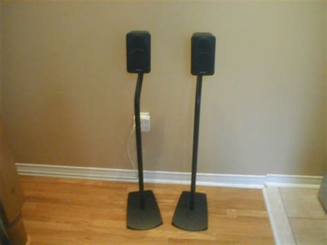 polk audio speakers with metal stands for sale canuck