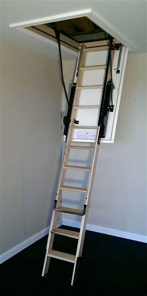 skylark electric loft ladder hulley ladders