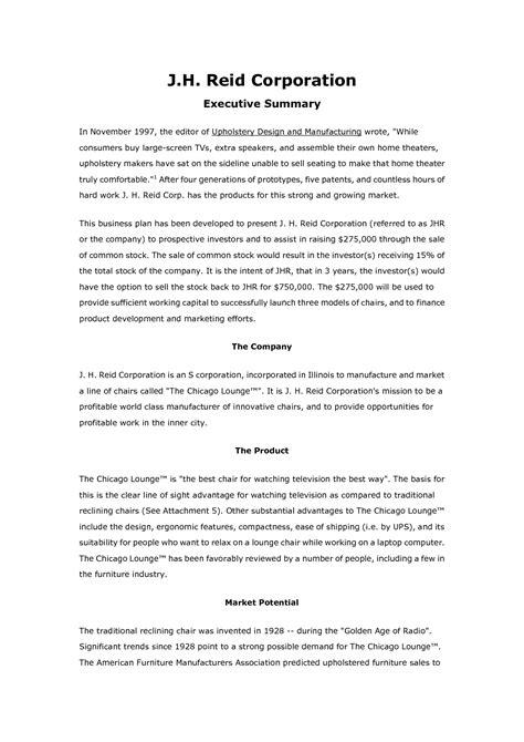 business plan sample designlook