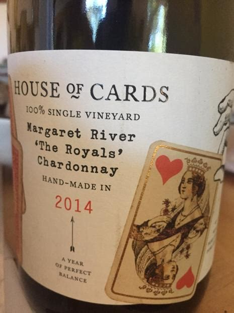 house of cards winery 2015 house of cards chardonnay the royals quot queen of hearts quot australia western australia south