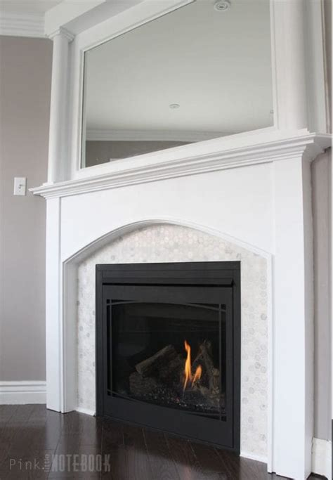 remodelaholic beautiful tiled fireplace  mantel update