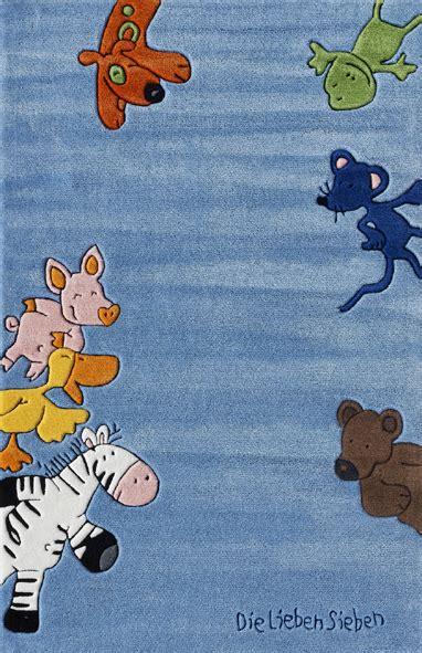 die lieben sieben teppich kinderteppich die lieben sieben blau heineking24 de