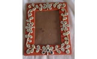 Handmade Fabric Flower - lipan art photo frame hobbyideas