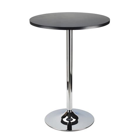 Black Metal Bistro Chairs Shop Winsome Wood Black Metal Bistro Table At Lowes