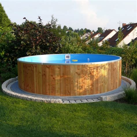 piscine fuori terra rivestite in legno piscina fuori terra steel wood 216 5 00 h 1 20 m bsvillage