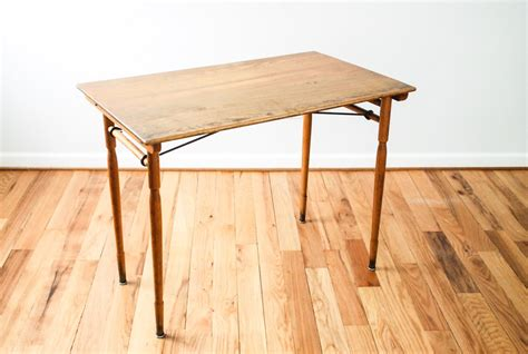 Wooden Folding Tables by Antique Sewing Table Folding Table Antique Wood Table Desk