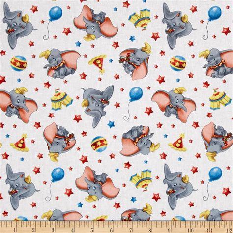 Disney Circus disney dumbo circus white discount designer fabric