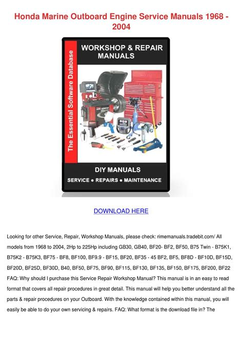 small engine repair manuals free download 2004 toyota 4runner parental controls honda marine outboard engine service manuals by bethanybarger issuu