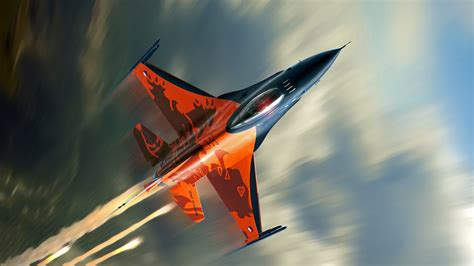 4k wallpaper jet wallpaper f 16 fighting falcon fighter jet aircraft us