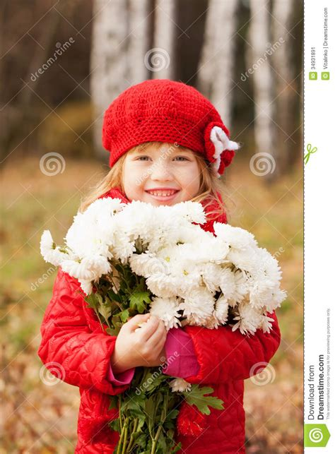 pretty girl  freckles   bouquet stock image